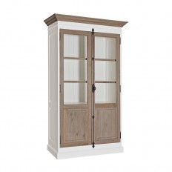 Vitrine chêne Victoria Pin Massif - achat meubles