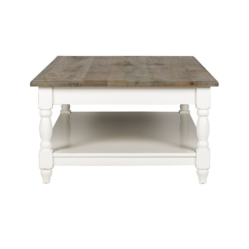 Table basse carr e bourges victoria pin massif de qualit - Table basse shabby chic ...