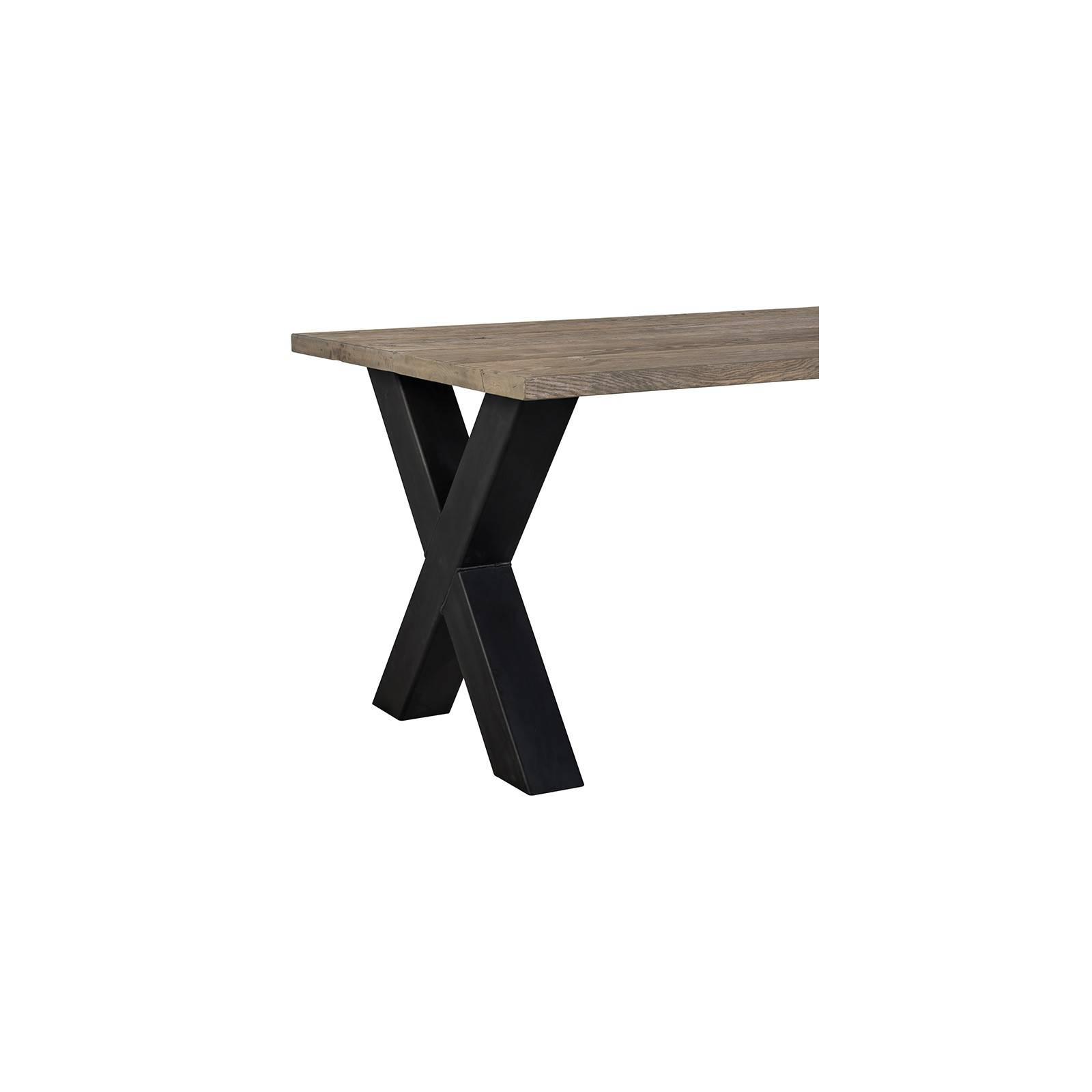 Table de salle Industriel Victoria Chêne - table esprit rétro