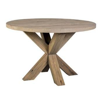 Table Ronde En Chêne Camarat Victoria Meuble De Campagne - Table ronde bois massif