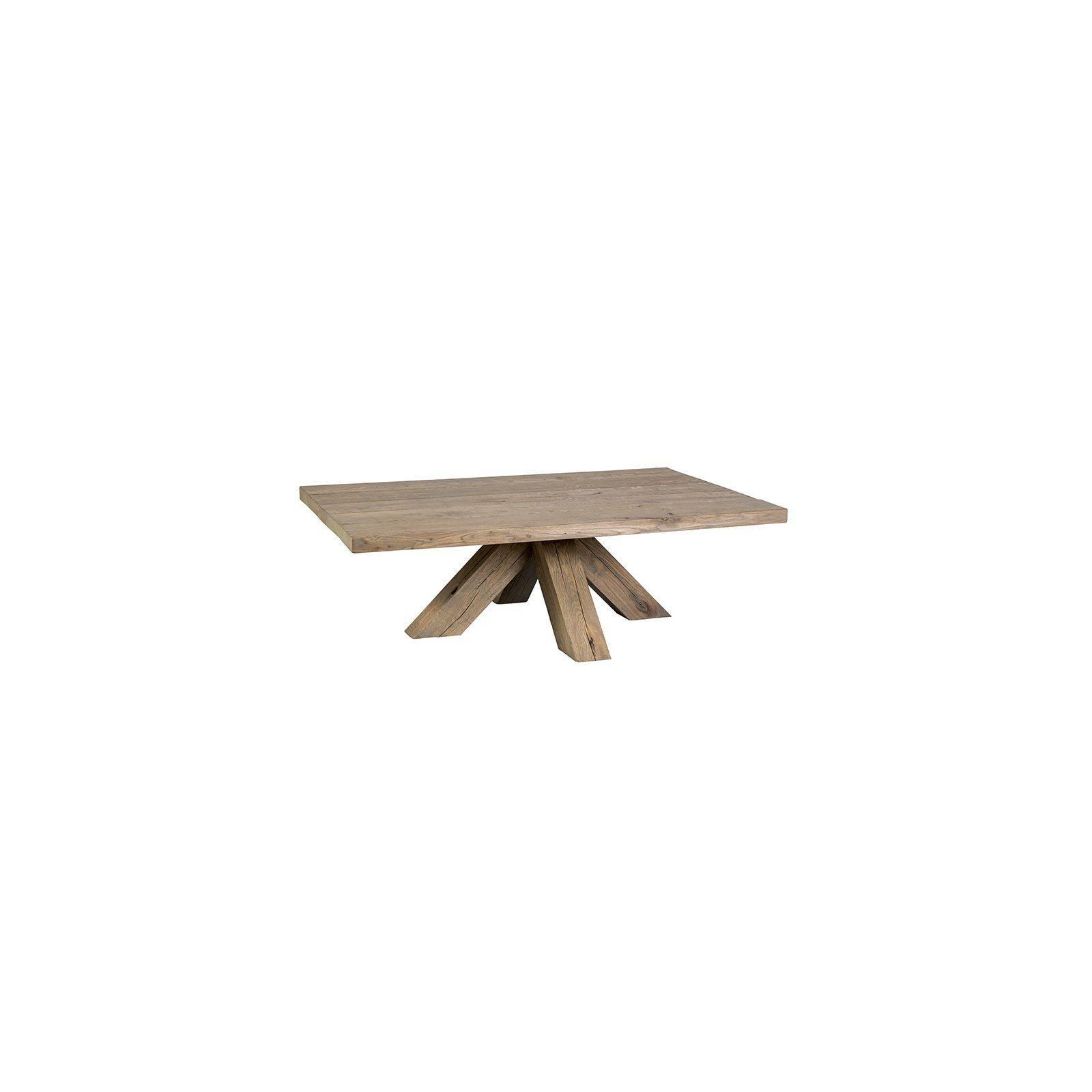 Table basse rectangulaire Victoria Chêne Massif - meuble de salon