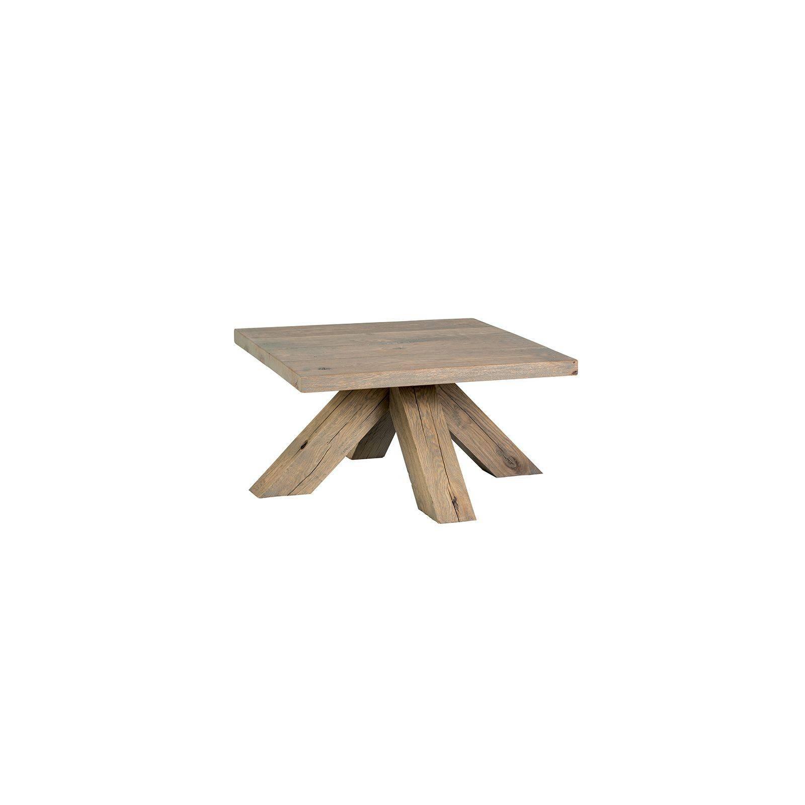 Table basse carrée Victoria Chêne Massif - achat table de salon
