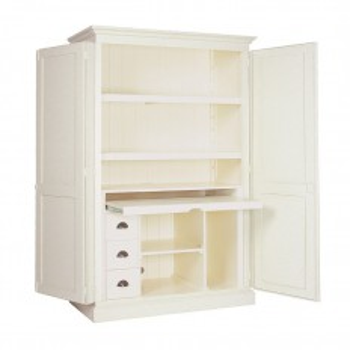 Armoire bureau Victoria Pin Massif - meuble style classique