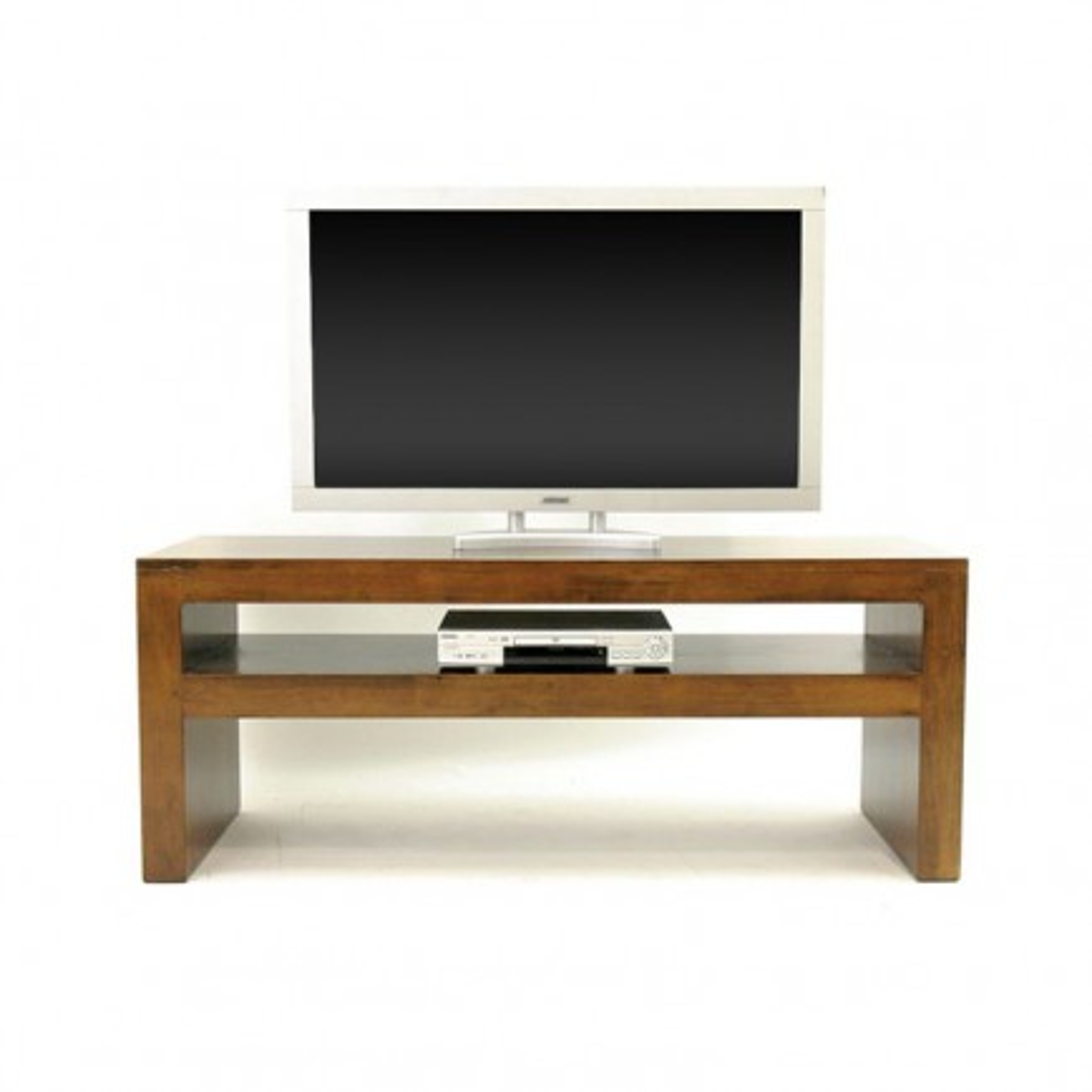 Meuble Tv Design Niche Omega Hévéa - meuble de salon en bois exotique