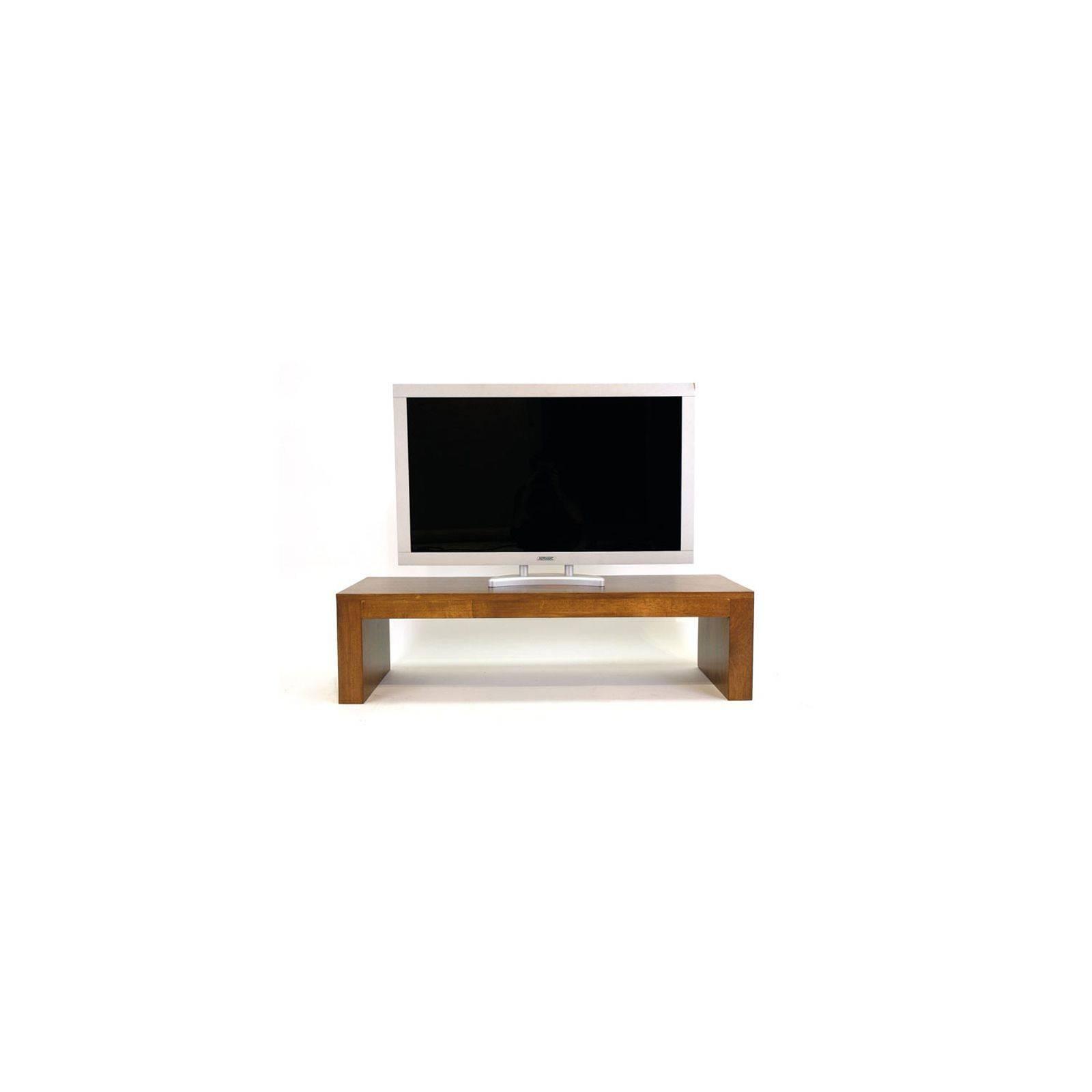 Meuble Tv Contemporain Omega Hévéa Massif - salon au style design