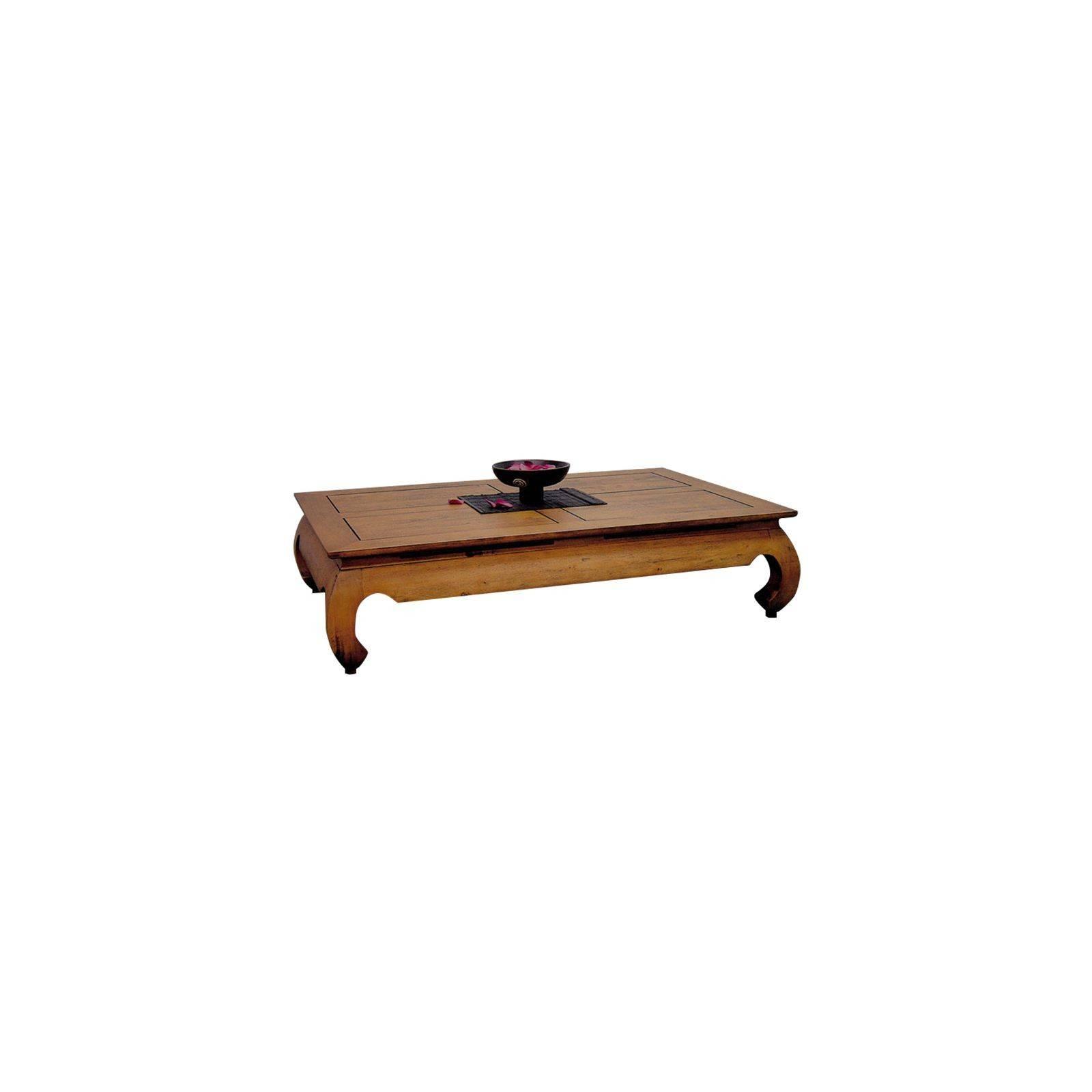 Table Basse Rectangulaire GM Opium Chine Hévéa Massif - table de salon
