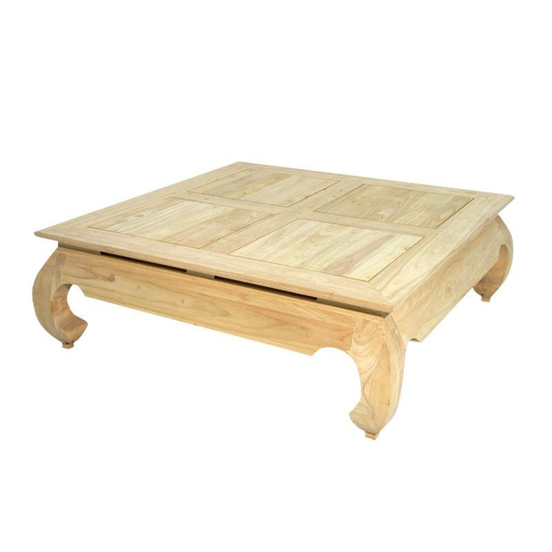 Table basse carre asiatique - Table basse carre bois ...
