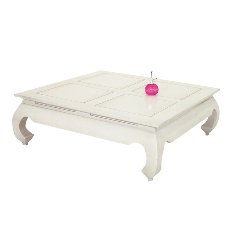 Table basse carr e gm opium chine h v a meuble asiatique for Table basse opium blanche