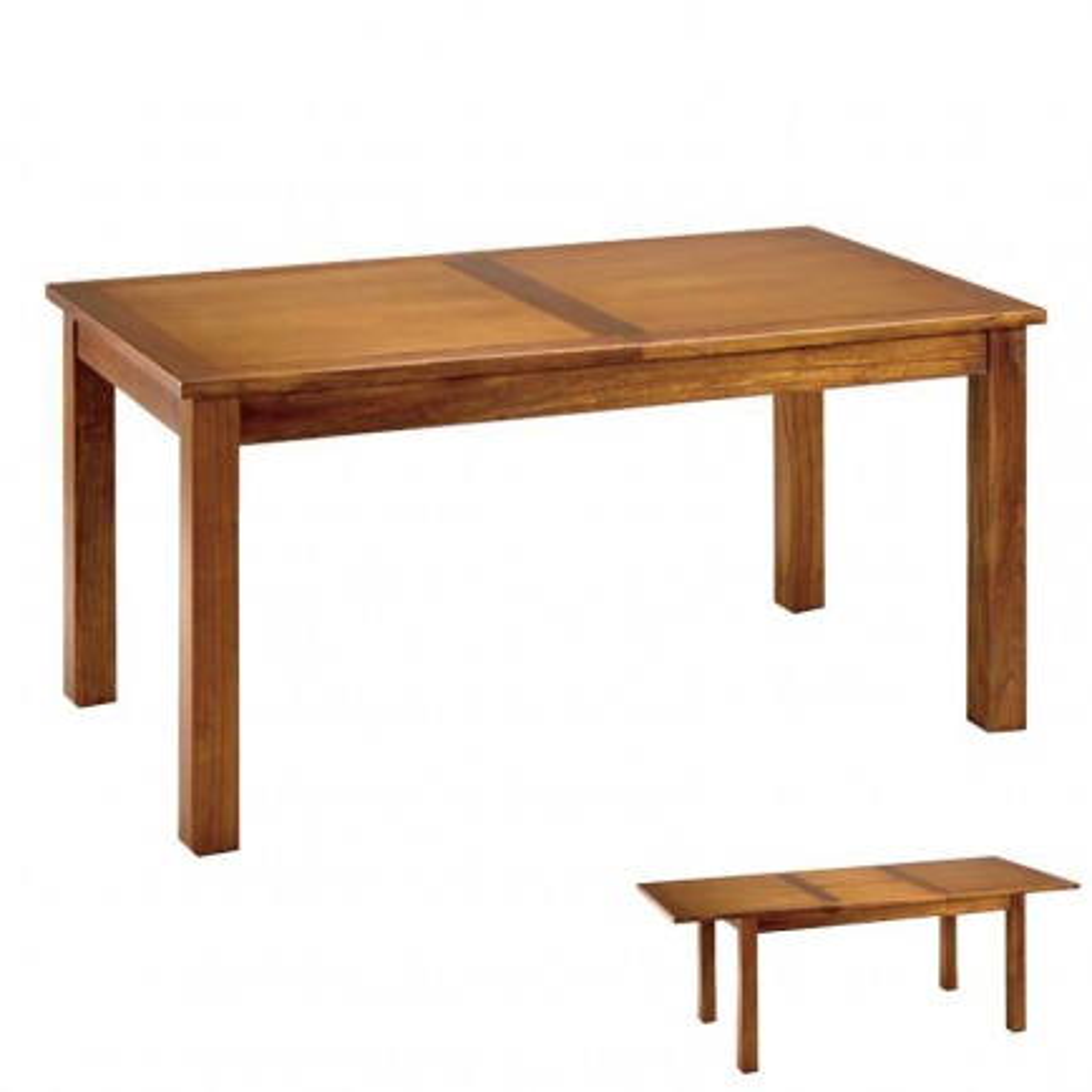 Table de salle rallonge Rétro Mindi Massif - meuble style rétro