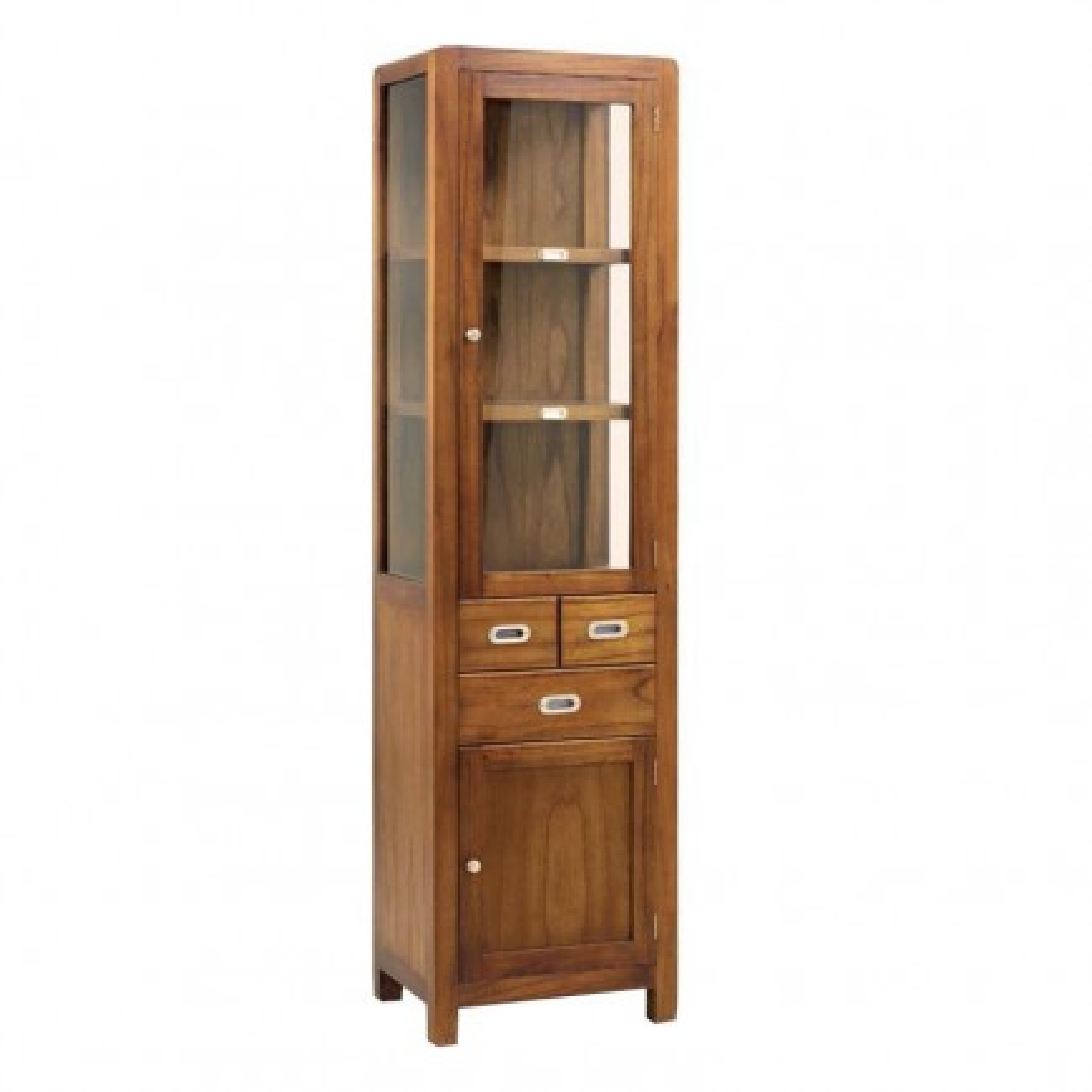 Étagère Rétro Mindi Massif - meuble de bureau en bois massif