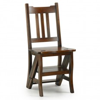 Chaise escabeau Acajou Colonial