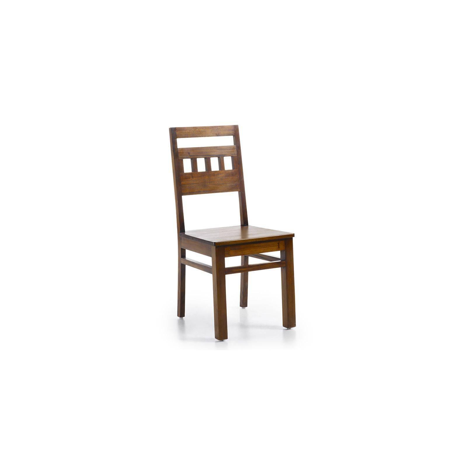 Chaise Design Colonial Acajou Massif - achat meuble bois exotique
