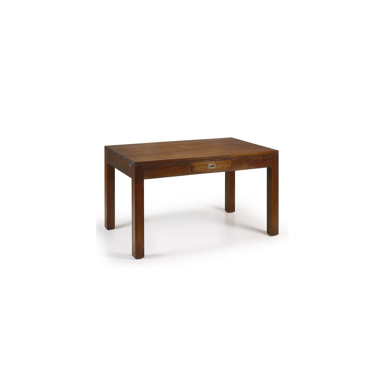 Table de salle Colonial Acajou Massif - achat table en acajou