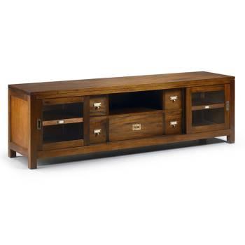 Meuble Tv 5 tiroirs Acajou Colonial