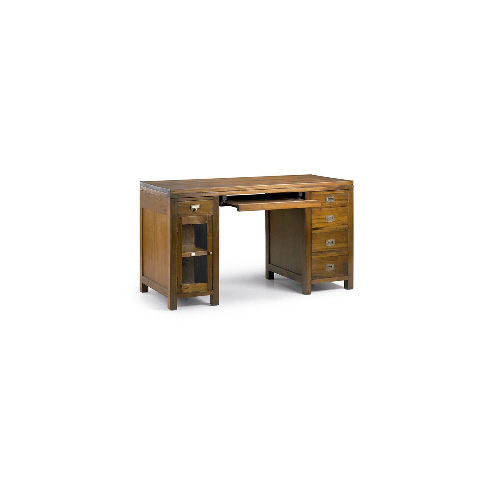 bureau au style colonial en acajou massif tendance exotique. Black Bedroom Furniture Sets. Home Design Ideas