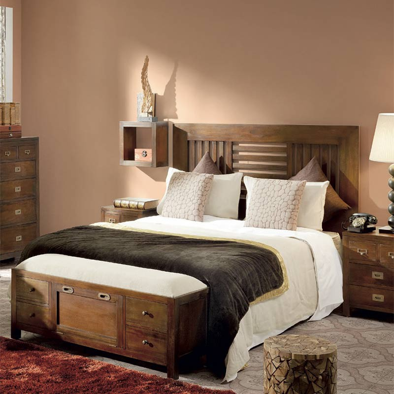 t te de lit une personne meuble colonial en bois exotique. Black Bedroom Furniture Sets. Home Design Ideas