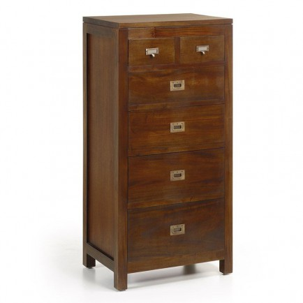 chiffonnier en bois massif petit meuble l 39 esprit colonial. Black Bedroom Furniture Sets. Home Design Ideas