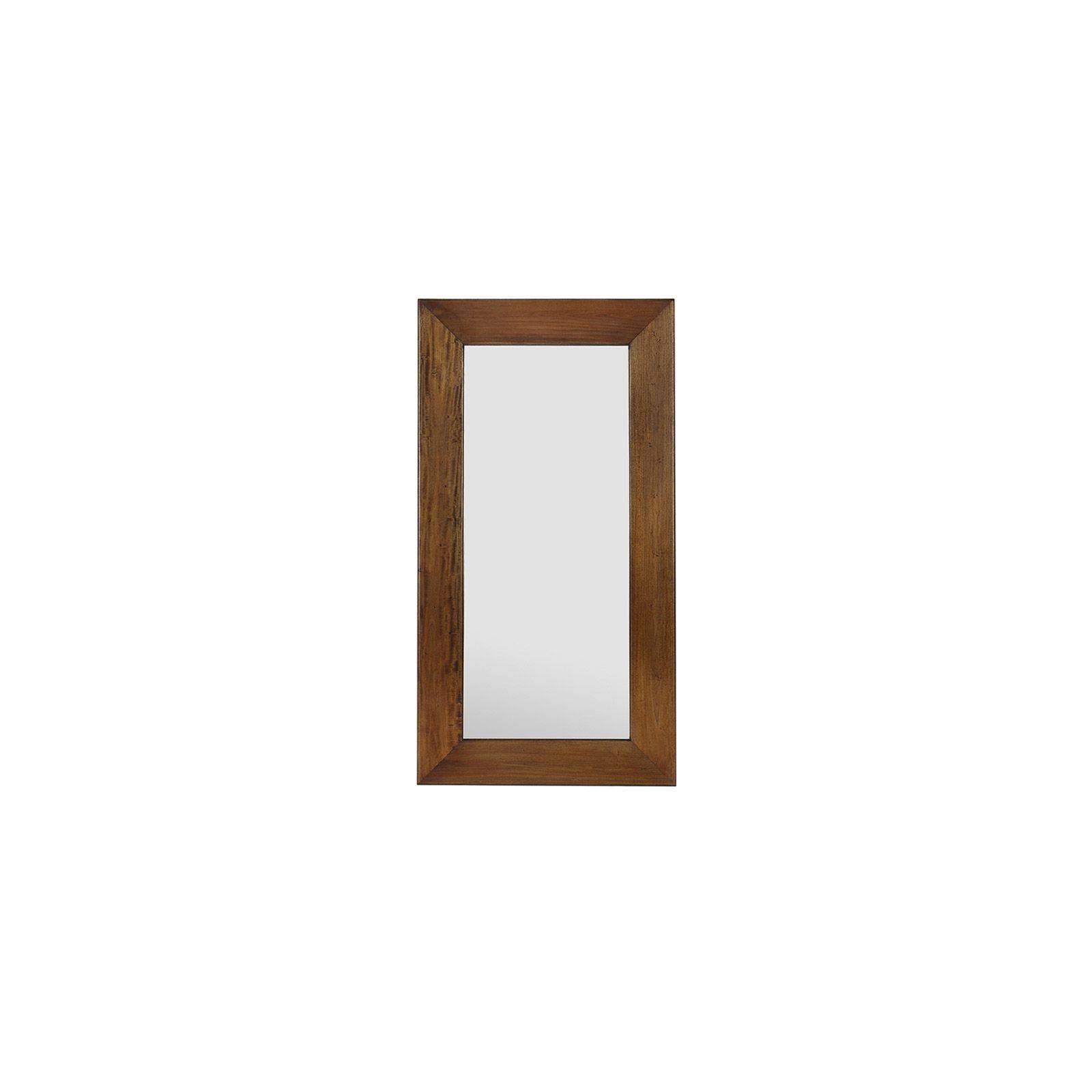 Miroir Rectangulaire Colonial Acajou Massif - meuble déco