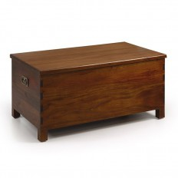 Coffre Colonial Acajou Massif - meuble de rangement