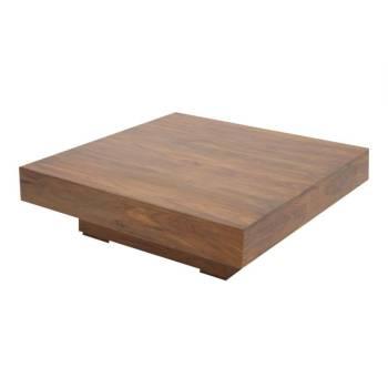 Table basse carrée Zen Palissandre