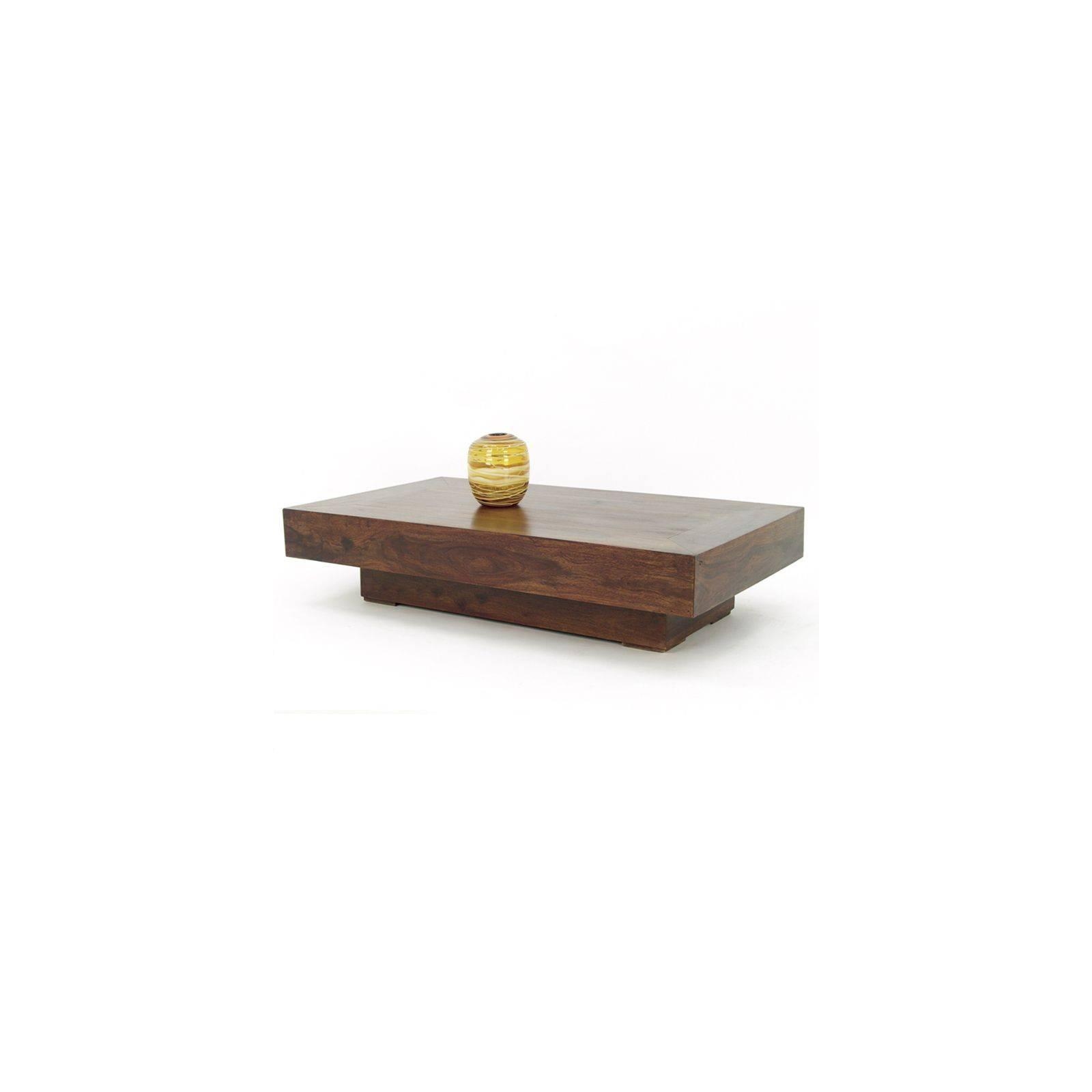 Table basse rectangulaire en palissandre massif : inspiration zen