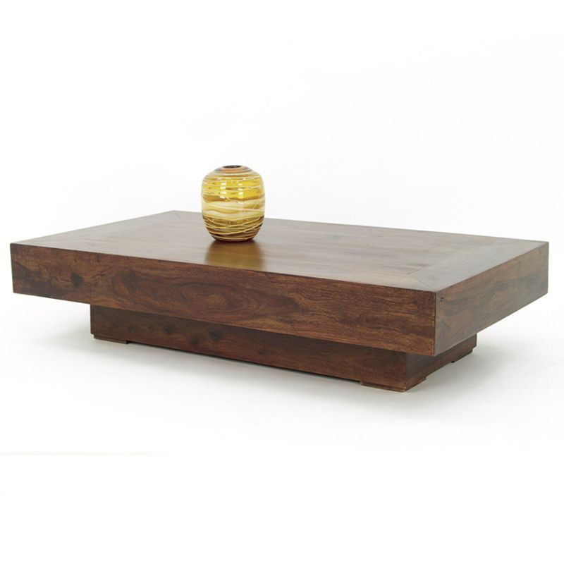 Table basse bois rectangulaire - Table de salon rectangulaire ...