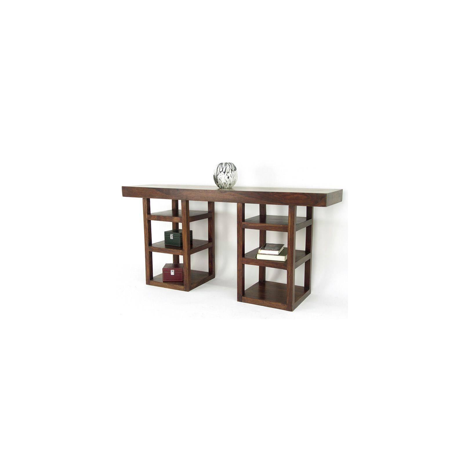 Console design Zen Palissandre : meuble d'entrée original