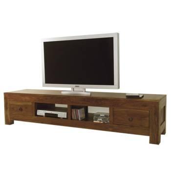 Meuble Tv grande taille en palissandre. Déco zen pour le salon