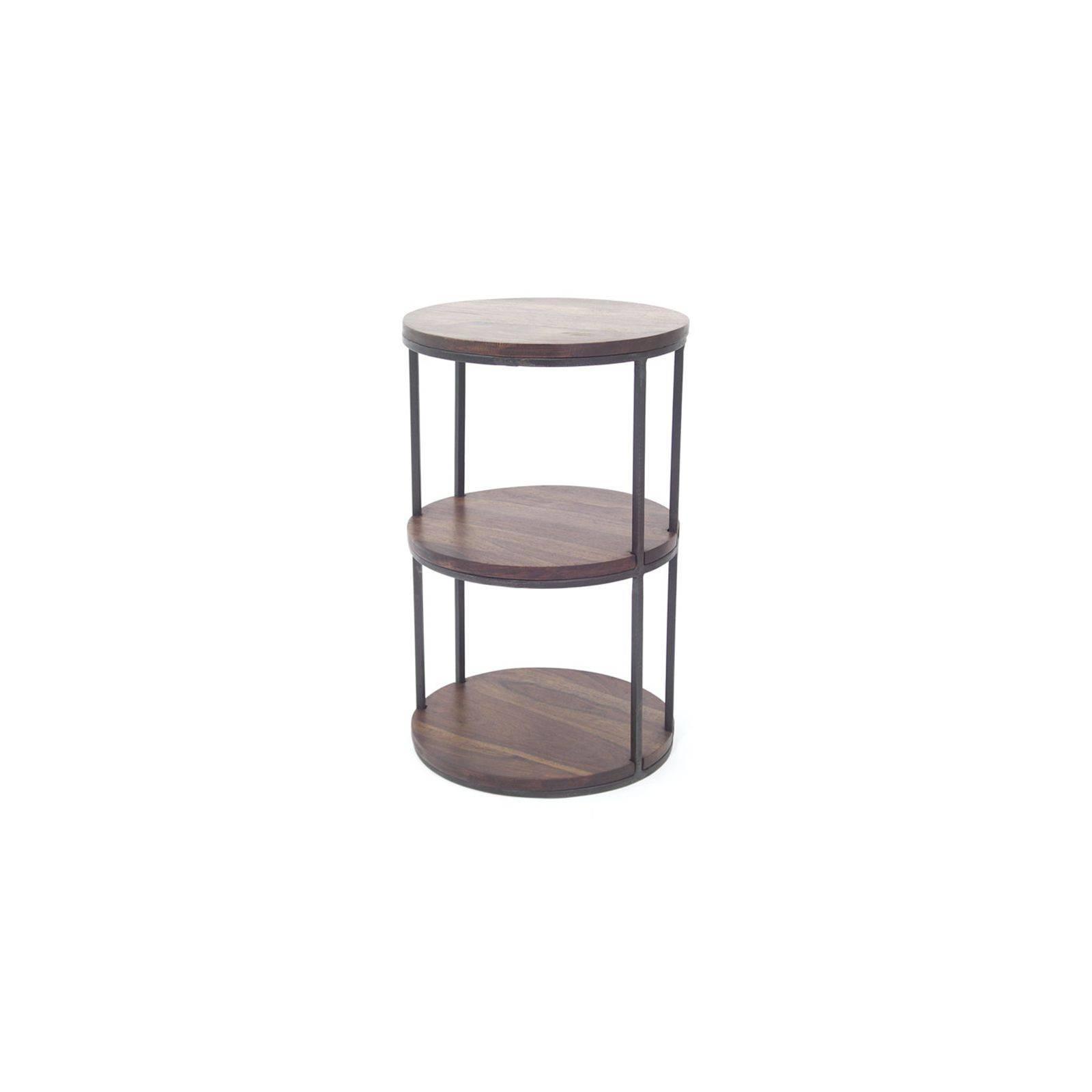 gu ridon loft en palissandre et fer forg meuble d 39 appoint. Black Bedroom Furniture Sets. Home Design Ideas