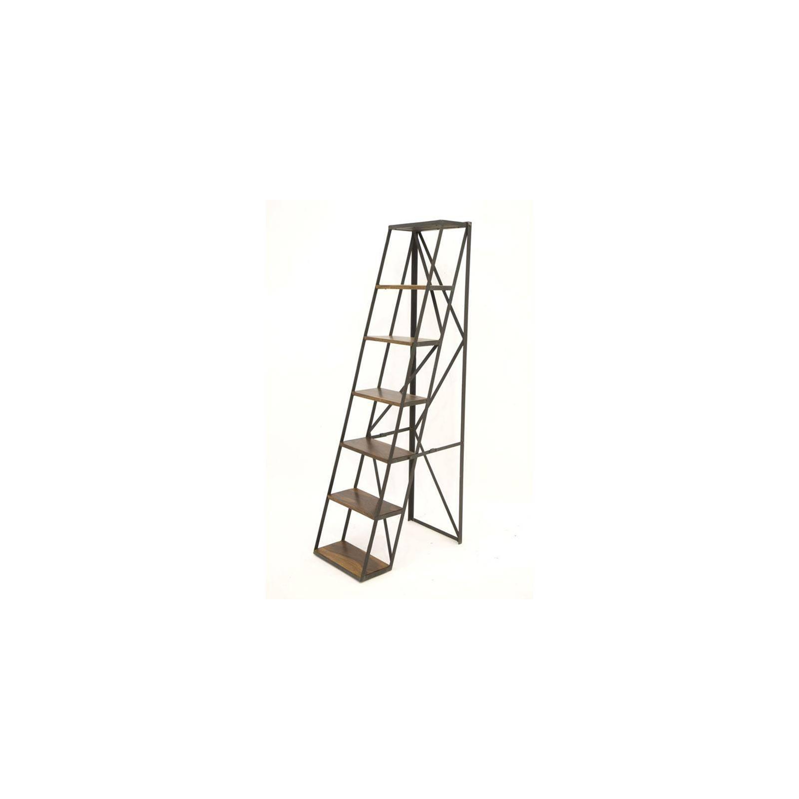 Étagère échelle Loft en palissandre et fer forgé