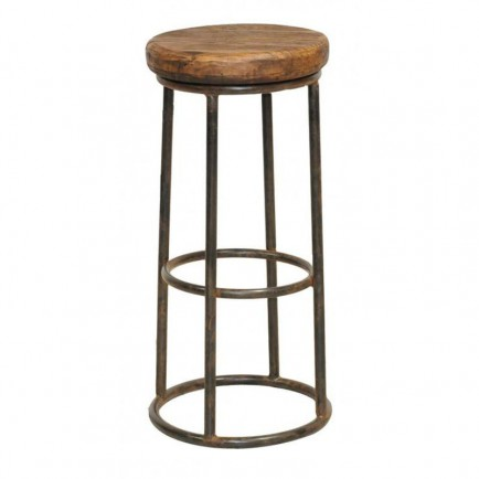 Tabouret De Bar Fer Forge.Tabouret De Bar Manguier Fabric