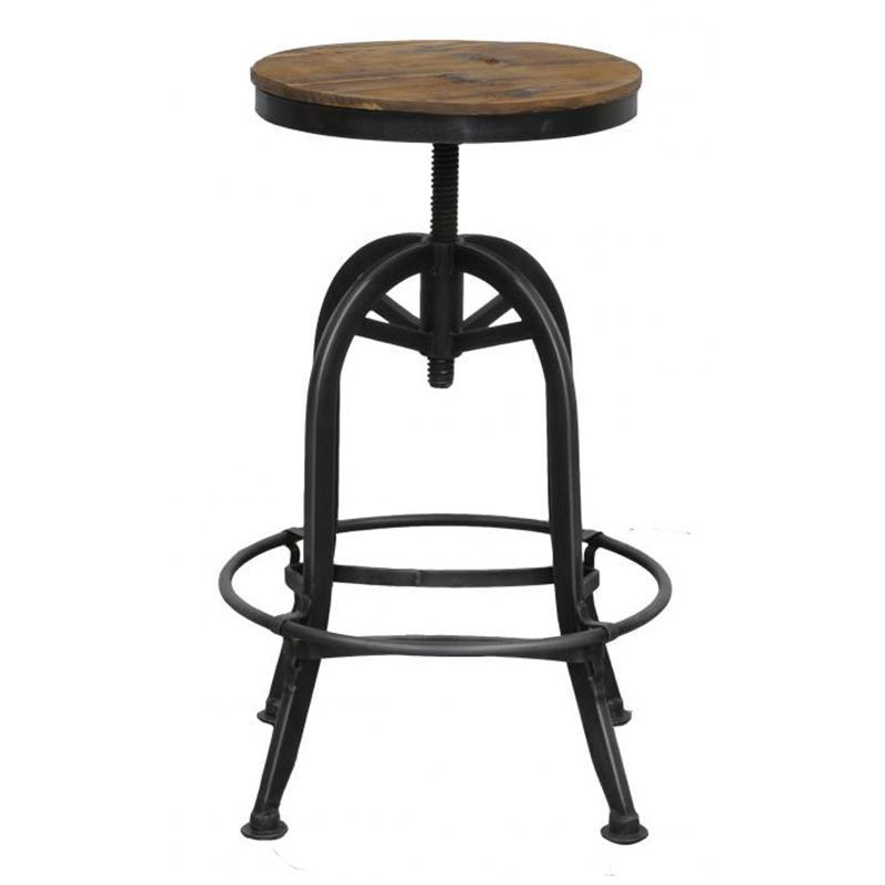 achat tabouret de bar r tro meubles fabric au style industriel. Black Bedroom Furniture Sets. Home Design Ideas