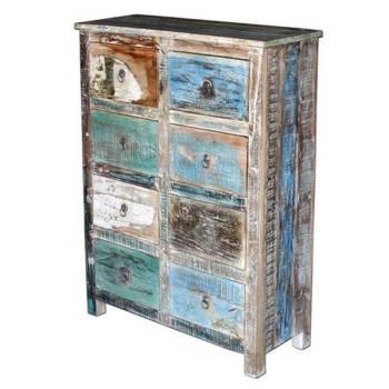 Commode en bois recyclé Cuba : meuble écologique à l'esprit jungle