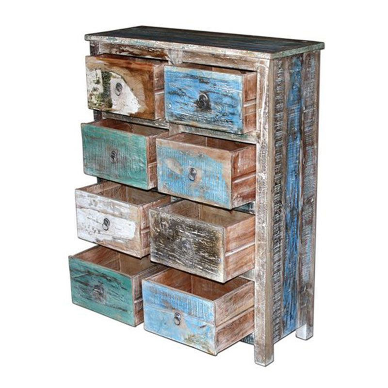 commode en bois exotique recycl cuba chambre l 39 esprit jungle. Black Bedroom Furniture Sets. Home Design Ideas