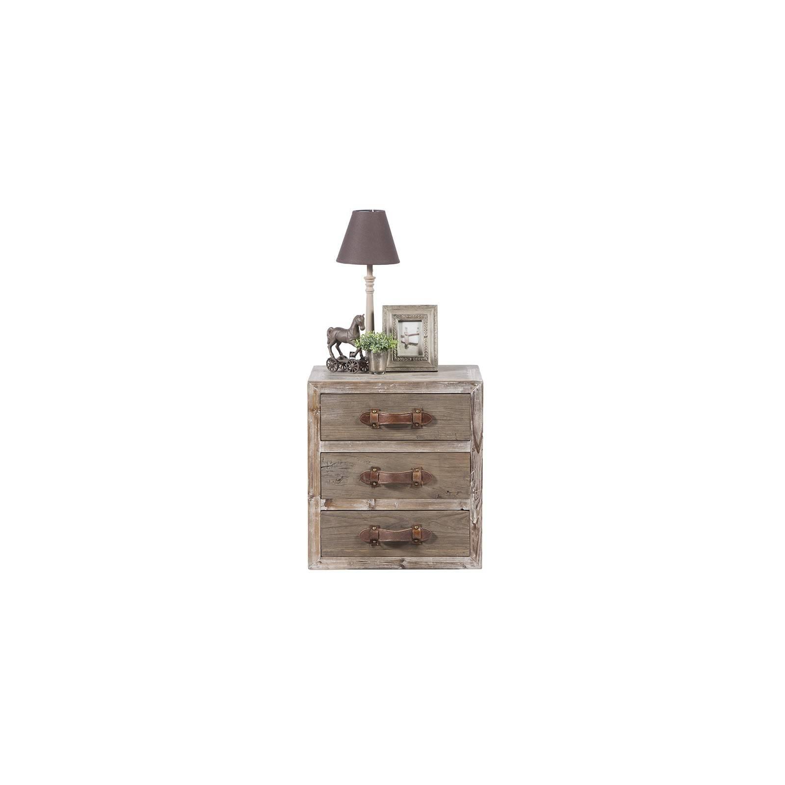Chevet en bois massif Flamand : meuble à l'esprit champêtre