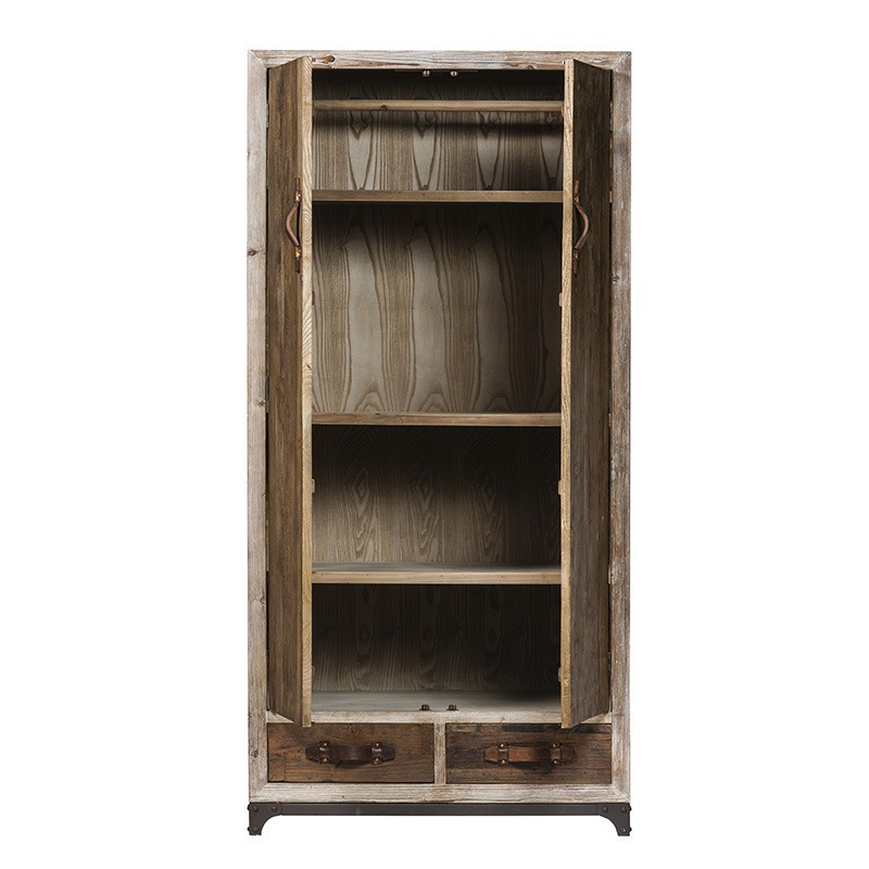 armoire penderie en pin massif flamand style campagne. Black Bedroom Furniture Sets. Home Design Ideas