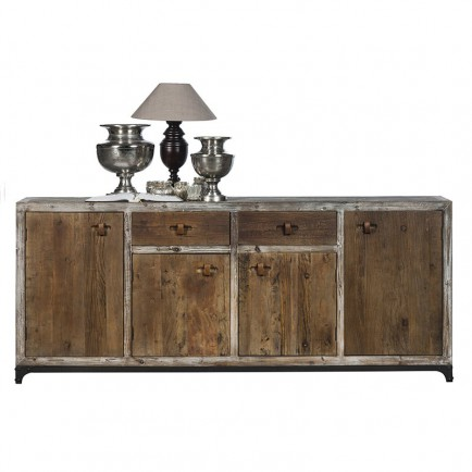 buffet bas en bois massif flamand meuble pour le rangement. Black Bedroom Furniture Sets. Home Design Ideas