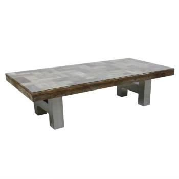 table basse design odille meuble en teck recycl. Black Bedroom Furniture Sets. Home Design Ideas