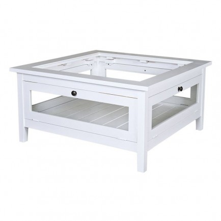 Table basse vitr e riviera en pin massif d co d for Table basse vitree