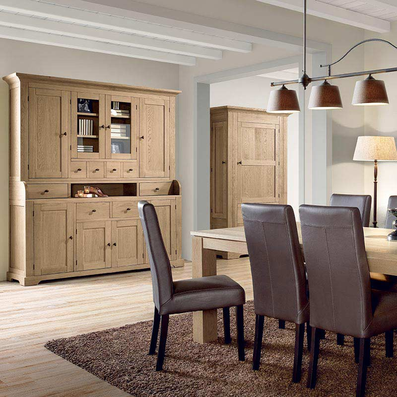 salle manger proven ale buffet vaisselier s ville en ch ne. Black Bedroom Furniture Sets. Home Design Ideas