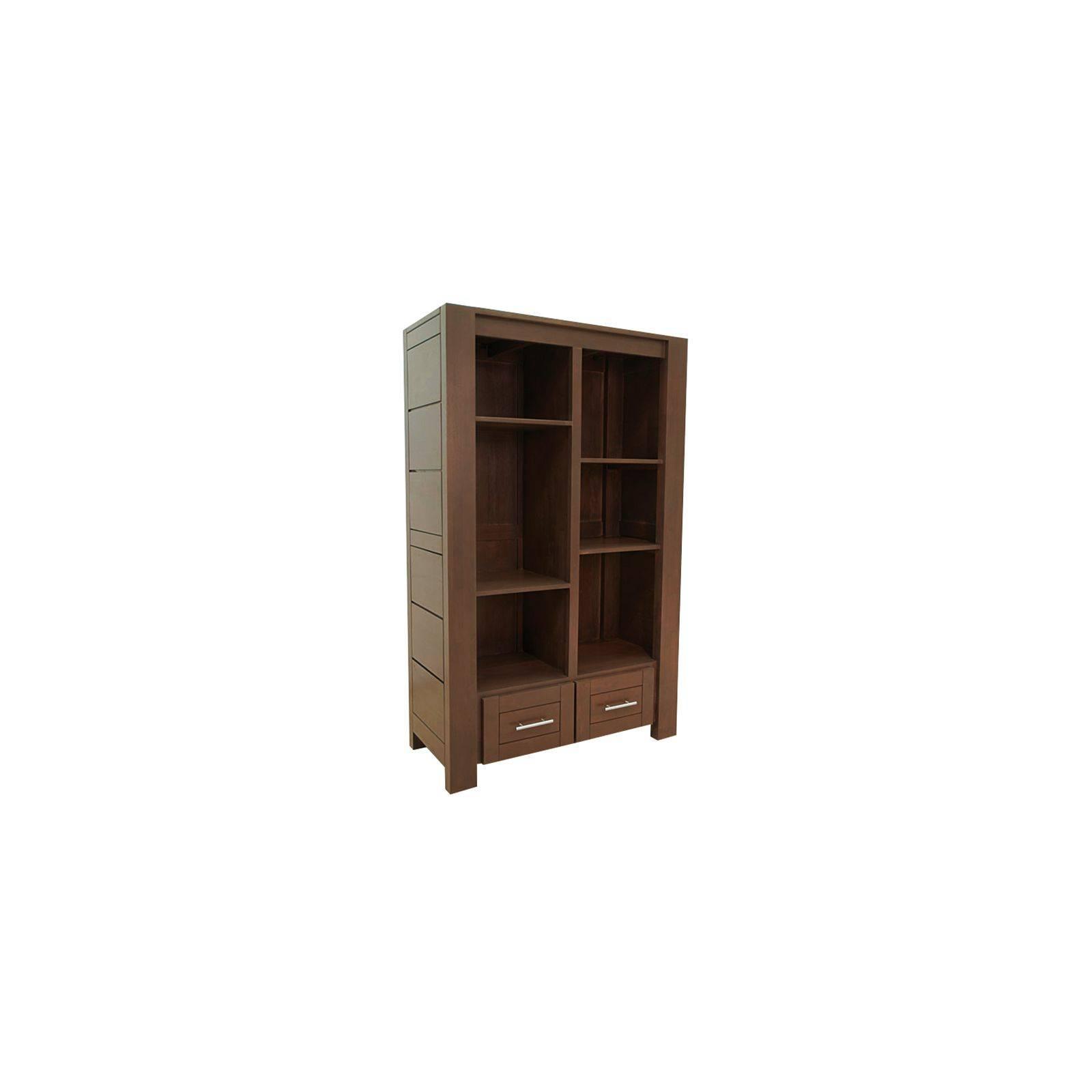 Bibliothèque design en hévéa. mobilier contemporain de la gamme Moka