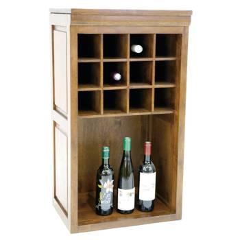Range-bouteilles au style classique : meubles en hévéa Tradition