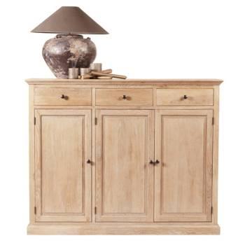 Buffet haut Valence : meuble en chêne massif