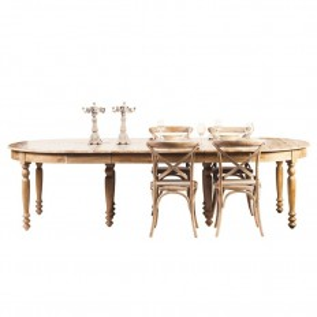 Table de salle ovale Valence. Meuble en chêne massif