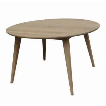 Table de salle ronde Scandinave chêne