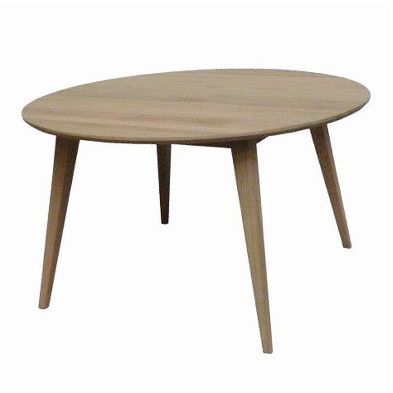 Table ronde en ch ne d co scandinave for Table ronde design scandinave