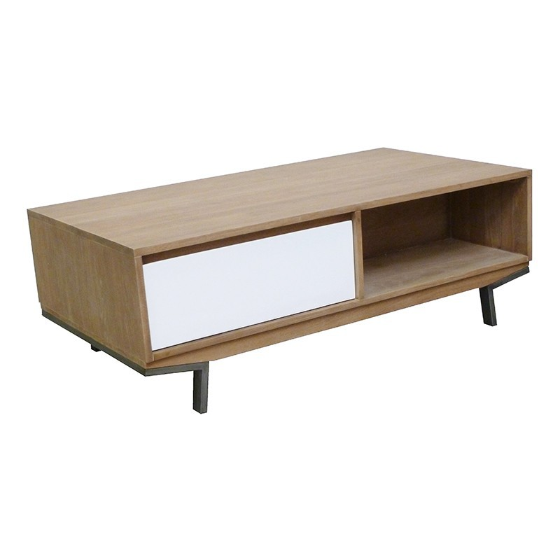 Mobilier nordique table basse en bois massif - Table basse style nordique ...