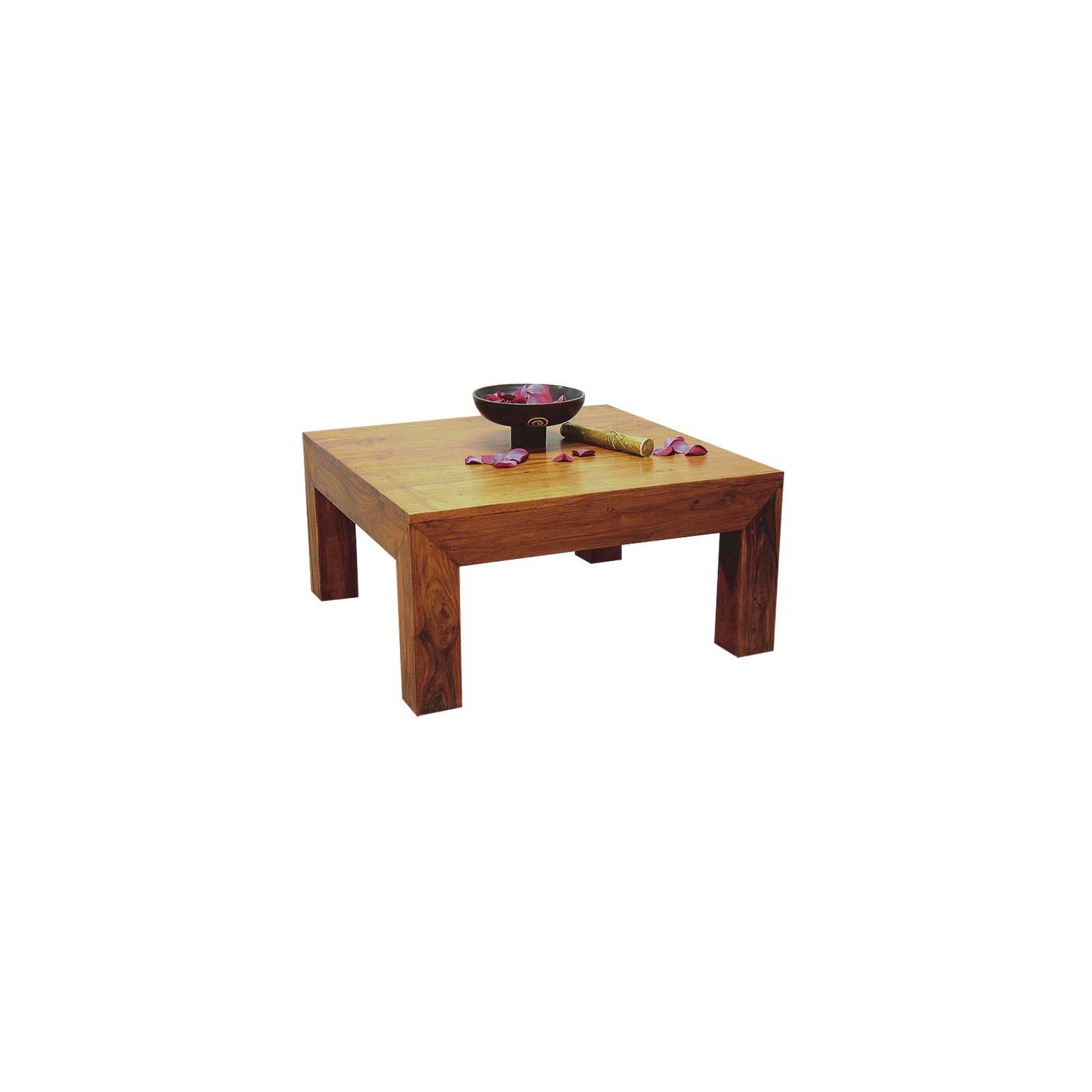Table basse exotique Zen palissandre