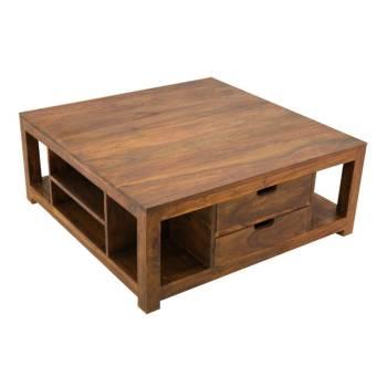 Table basse Palissandre carrée Art Déco