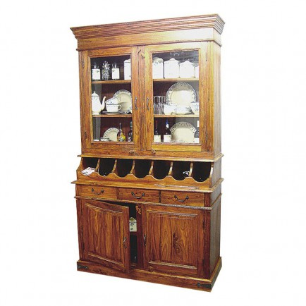 Buffet vaisselier en bois massif. Collection de meubles Tradition